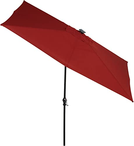 SUNergy 50104392 9-ft x 7-ft Outdoor Solar LED Lighted Umbrella