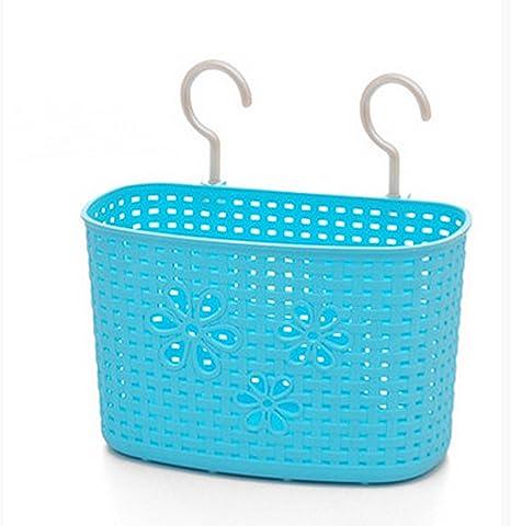 iTemer Cajas de almacenaje plástico cesta colgante con gancho para ...