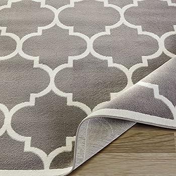 Silk Road Concepts Collection Grey Moroccan Trellis Design Area Rug 5 3 X 7 Gray Furniture Decor