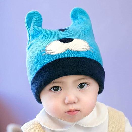 Myzixuan Otoño Invierno Nuevo Conjunto Cabezal Infantil algodón bebé Gorros Tejidos Sombreros del bebé Sombrero de los Hombres y de Mujeres: Amazon.es: Jardín