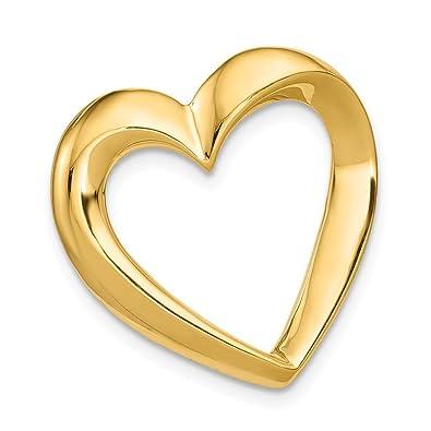 Amazon Fb Jewels 14k Yellow Gold Heart Slide Jewelry