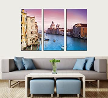 Large Canvas Print Wall Art Venice Italy Grand Canal Cityscape Picture  Paintings For Home Wall Decorations