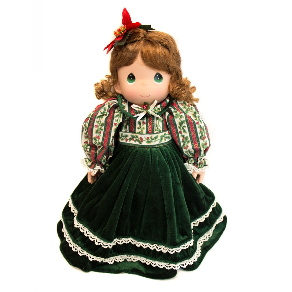 Precious Moments Collectible Plush Christmas Doll with Stocking