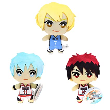 tiddy Kurokos Basketball Plush Toy Doll, Plush Toy Pendant, Backpack Pendant, Best Gift Collection Toy 15cm( 3 Stück)