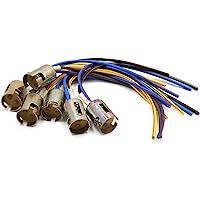 sourcing map 6Pcs Precableado Conector Metal 1156 Socket