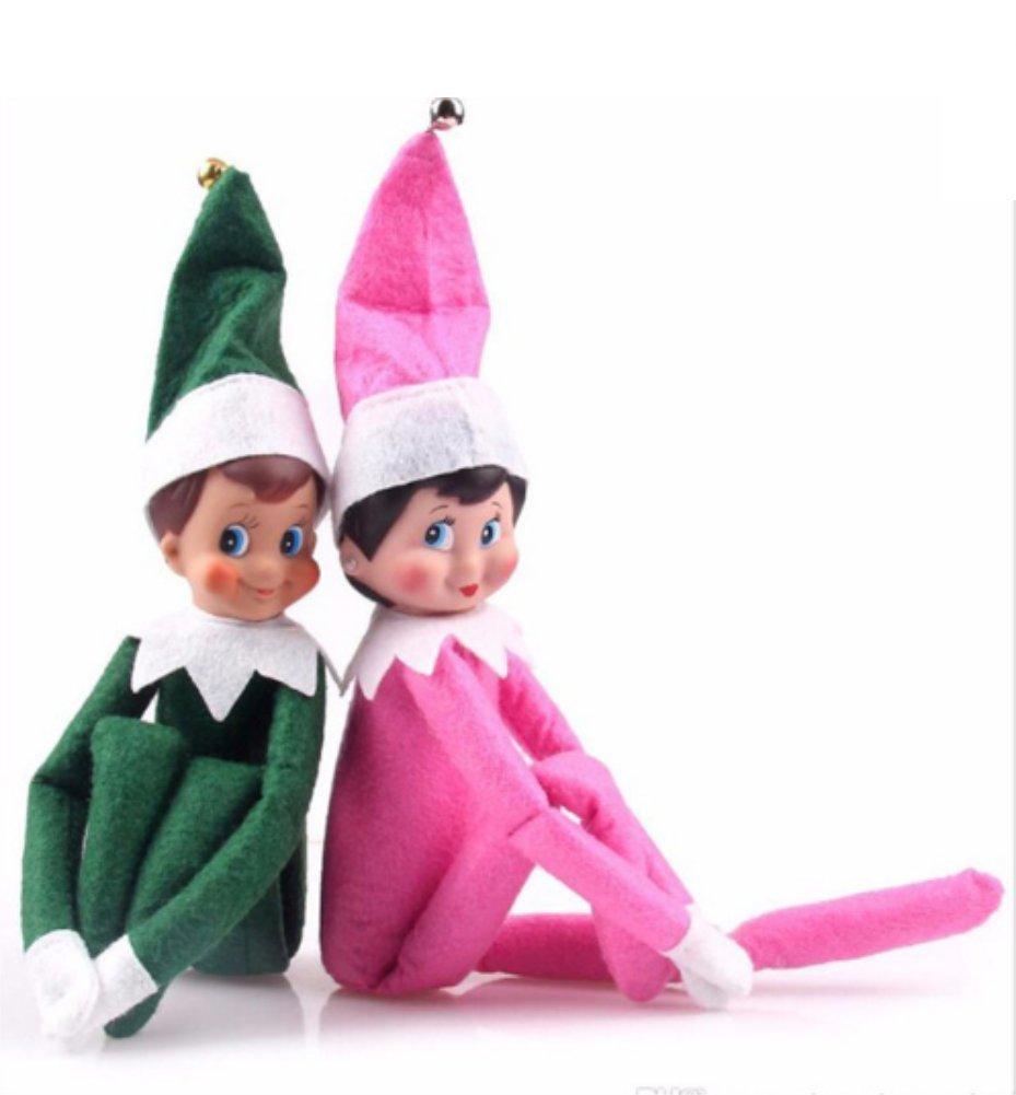 Ineer Brand 2019 Christmas Gift The Elf on The Shelf Doll (redgirl+redboy)