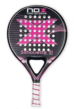 NOX Silhouette III - Pala para Mujer, Color Rosa/Negro / Blanco/Plata, 38 mm: Amazon.es: Deportes y aire libre