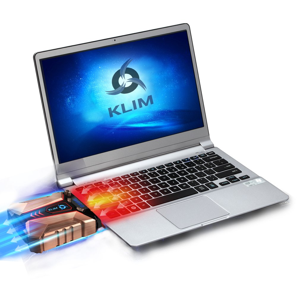 ⭐️Klim Cool + Metal Laptop Cooler Fan - The Most Powerful Gaming External Air Vacuum - Computer USB for Immediate Cooling - Slim - Portable - Quiet - Cooling Pad to Solve Internal Overheating