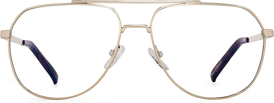Jim HALO Bloquea Luz Azul Computadora Gafas Reduce Fatiga Visual Marco Aviador Metal Anteojos Hombre Mujer Claro