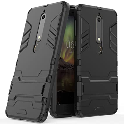 Amazon.com: Nokia 6.1 Funda, Nokia 6.1 Funda híbrida, doble ...