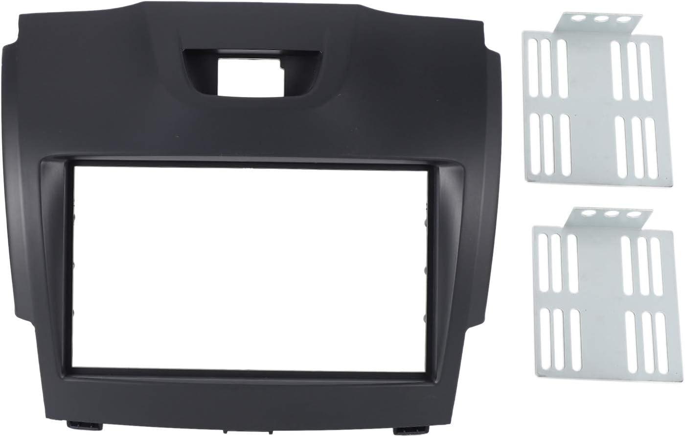 Shumo Car Radio Fascia Multimedia Frame Kit for D-Max 2012 Facia Panel Trim Dash CD 2 Din Audio Bezel Dash MU-X 2013