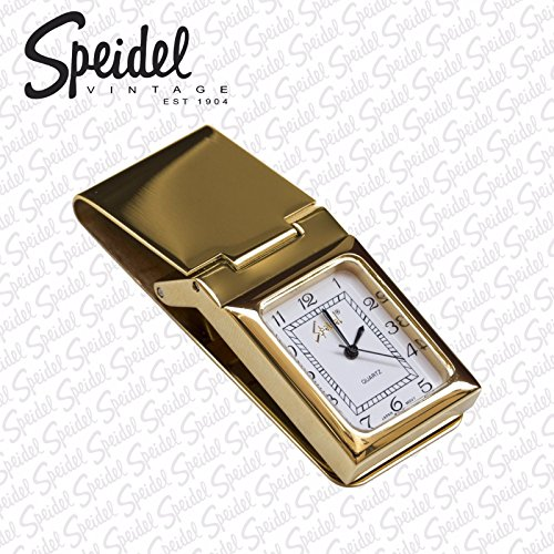 18K Gold Plated - Mens SPEIDEL Watch Money Clip & Credit Card Holder stainless steel