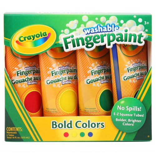 Crayola Washable Finger Paints, 4-Count ( 4 ounce