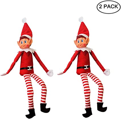 12 inch long leg soft body vinyl face elf with hat /& tag