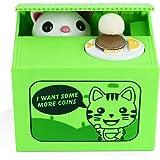 Peradix Salvadanaio Elettrico Gatto Furbo - Salvadanai per Bambini - Grazioso Salvadanaio a Scatola - con Panda che Ruba le Monete - Grande Regalo per Bambini