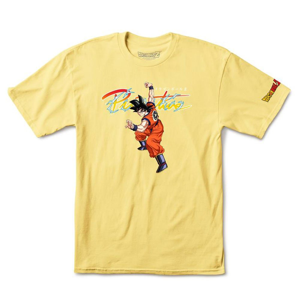 1b1ad3b70 Amazon.com: Primitive x Dragon Ball Z Men's Nuevo Goku T Shirt Yellow:  Clothing