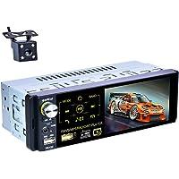 X-REAKO Radio Coche Bluetooth Manos Libres radio 1 din para coche 4.1 Pulgadas Pantalla táctil capacitiva Reproductor…