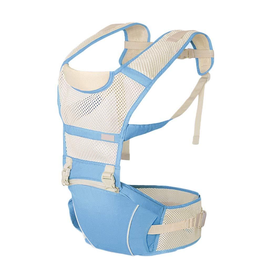 Portabebés del suave Cinturón Correa del Portabebés taburete Ligero Fácil de transportar Laborista Ahorro Portabebés de posiciones múltiples para bebés Bebés Portabrazos (color : Azul) 90432e