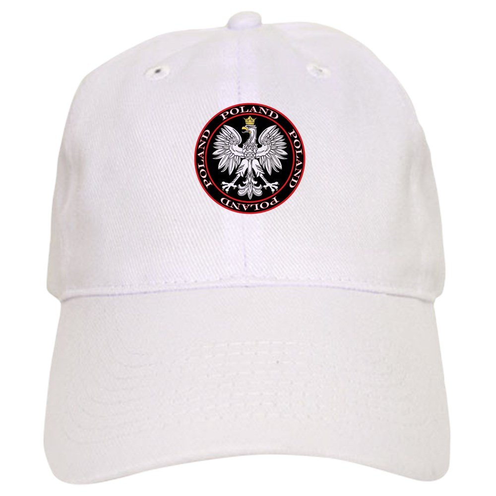 d24f02a21b3 CafePress - Round Polish Eagle - Baseball Cap with Adjustable Closure