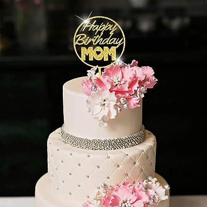 Amazon.com: YUINYO Decoración para tarta de feliz cumpleaños ...