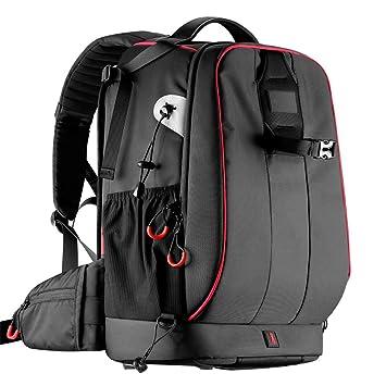 9cf69055d19 SCAML Sac à Dos pour Appareil Photo Grande Capacité Multifonctionnel  Anti-vol DSLR Camera Bag