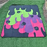 ATAYA Outdoor Camping Picnic Blanket w/Waterproof Backing,100% Polyester, Smiling face, 47x59 Inch 85038111
