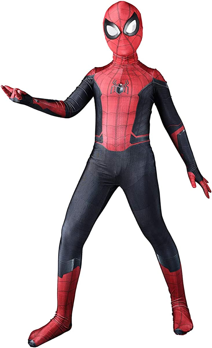 Haicos Kids Far from Home Spider Cosplay Bodysuit Lycra Superhero Suits Halloween Cosplay Costumes 3D Style