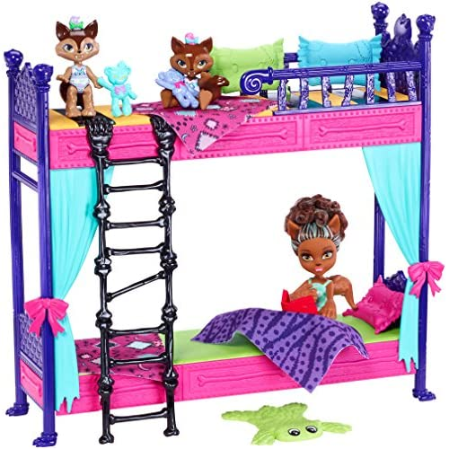 Low Cost Monster High Monster Family Wolf Bunk Bed Playset And Dolls