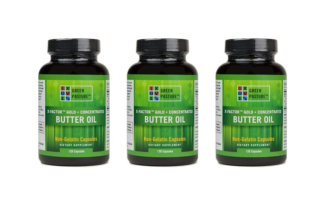 X-Factor Gold High Vitamin Butter Oil 120 Caps (3 Pack)