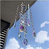 H&D HYALINE & DORA Chandelier Wind Chimes AB Coating Crystal Prisms Hanging Suncatcher Pendant Home Decor Gifts
