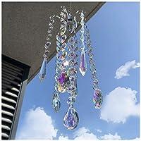 H&D HYALINE & DORA Chandelier Wind Chimes AB Coating Crystal Prisms Hanging Suncatcher...