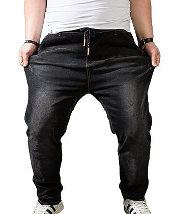 Taille Super Hose Hohe Heheja Übergröße Herren Elastizität Jeanshosen Jeans Denim Lq35R4Aj