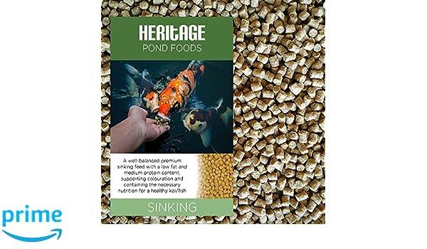 Pienso granulado para peces carpa común o dorado de Heritage: Amazon.es: Jardín