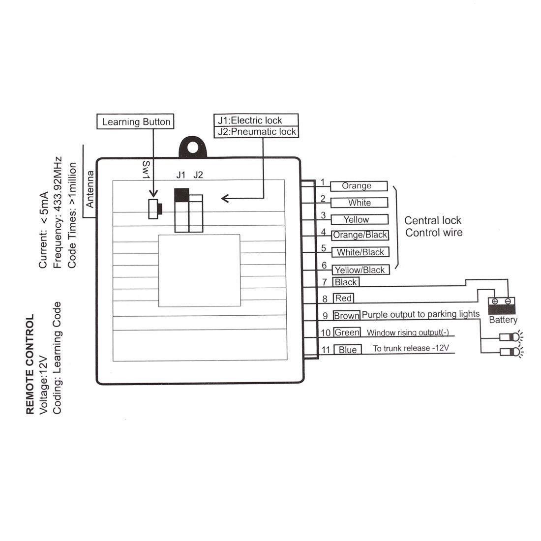 X AUTOHAUX Universal Car Remote Central Kit Door Lock Vehicle Keyless on