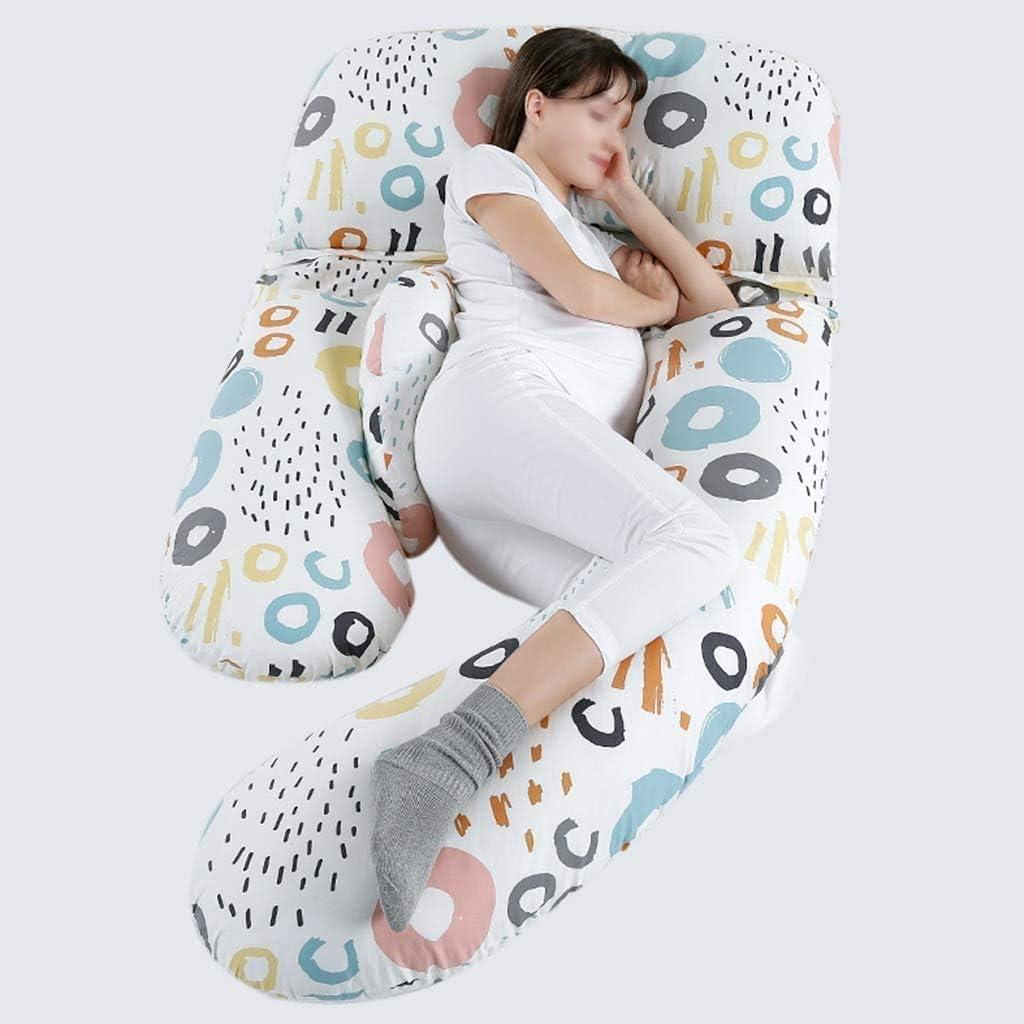 BBGSFDC Almohadas for Mujeres Embarazadas, Almohadas Laterales de Cintura, Almohadas Laterales for Dormir, Soporte de Embarazo, Almohadas de Embarazo en Forma de U