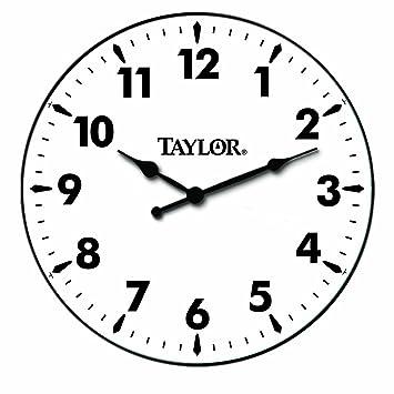 Amazon.com: Taylor Precision Products Patio Clock (12-Inch): Home ...