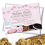 Milk & Cookies Birthday Party Invitations