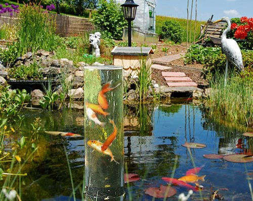 Fischturm Fischsäule Goldfisch-Rohr 50 cm inkl. Sockel