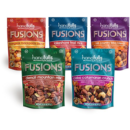 Handfulls Fusions Trail Mixes, Variety Pack, 3.25 oz Share Bag (Beer Mix Variety Pack)