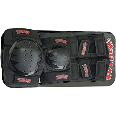 Bullet Skateboards Black Knee, Elbow, & Wrist Pad Set - Junior : Skate And Skateboarding Protective Gear : Sports & Outdoors