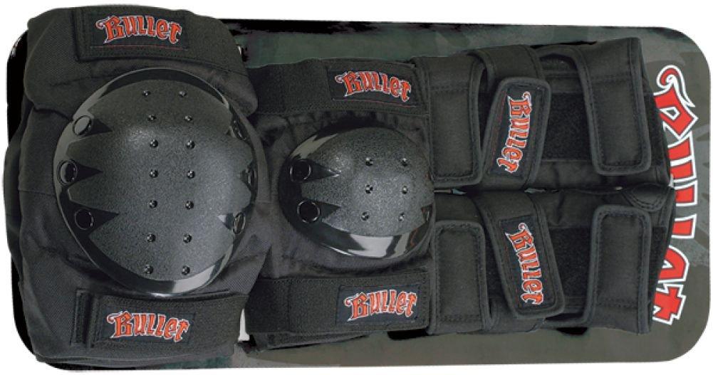 Bullet Skateboards Black Knee, Elbow, Wrist Pad Set – Junior