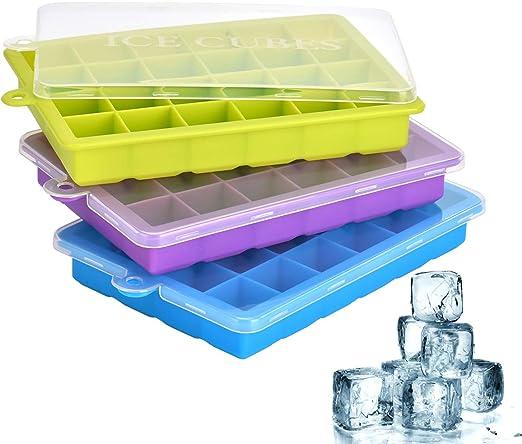 Mit Deckel Eiswürfelform Eiswürfel Quadratische Form Lebensmittelqualität