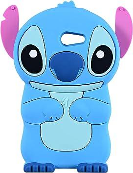 Stitch Bleu Coque pour Samsung Galaxy J3 Emerge/J3 2017/J3 Prime, Express Prime 2, Mission de J3/J3 Eclipse, 3d de dessin animé Animal mignon souple ...
