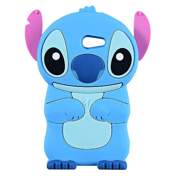 Blue Stitch Case for Samsung Galaxy J3 Emerge/J3 Prime,Express Prime 2,J3  Mission/J3 Eclipse,3D Cartoon Animal Cute Soft Silicone Rubber Cover,Kawaii