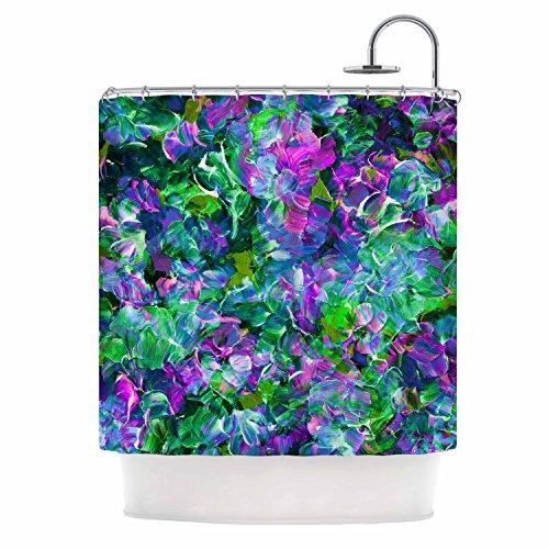 "Cheap KESS InHouse Ebi Emporium Bloom on Exotic Green Purple Shower Curtain, 69"" x 70"""