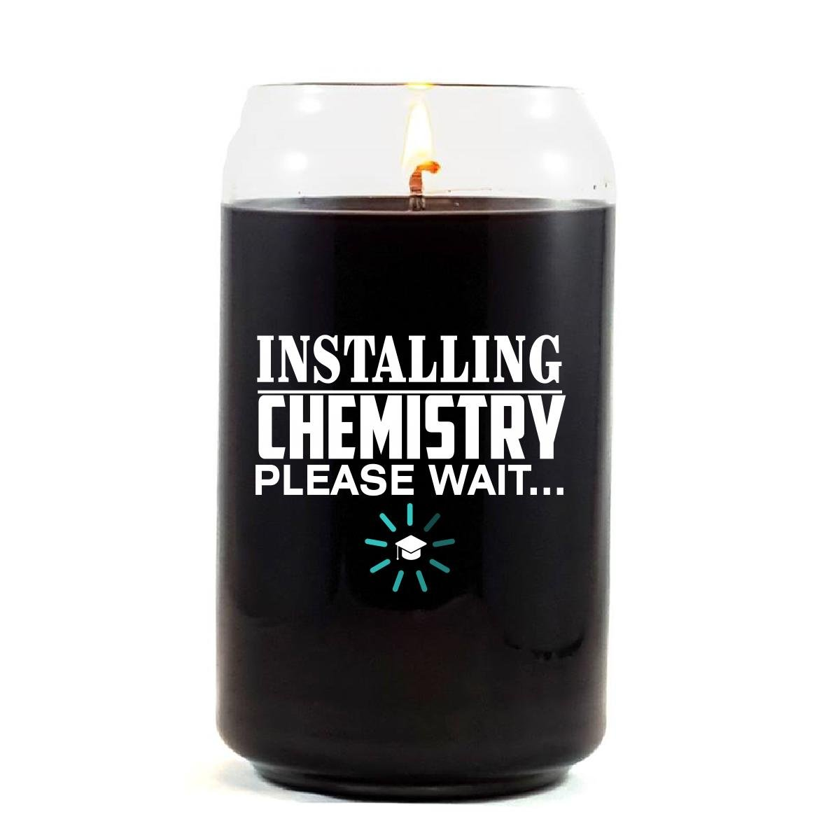 Installing CHEMISTRY Please Wait College Degree - Scented Candle