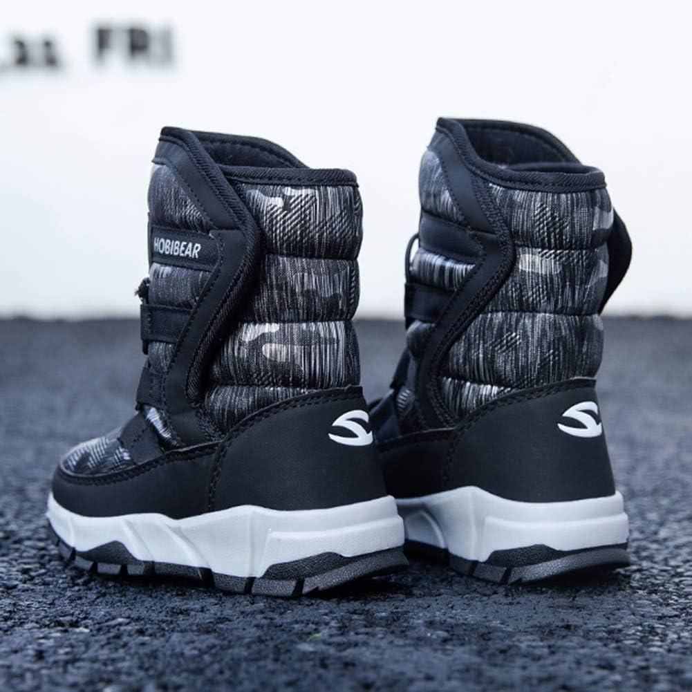 KKCD-slipper Bambini Snow Boots, Ragazze Caldi di Inverno Impermeabile Slip Esterna Resistente Scarpe Freddo Meteo Cotone Boots (Toddler/Piccolo Capretto/Big Kid) Black