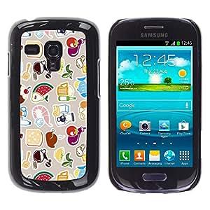 Stuss Case / Funda Carcasa protectora - Modelo lindo FRESCO - Samsung Galaxy S3 MINI 8190