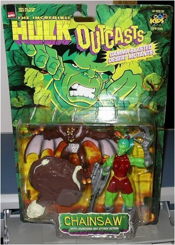 "HULK "" CHAINSAW w/ LAUNCHING BAT ATTACK ACTION"" from HULK OUTCASTS"