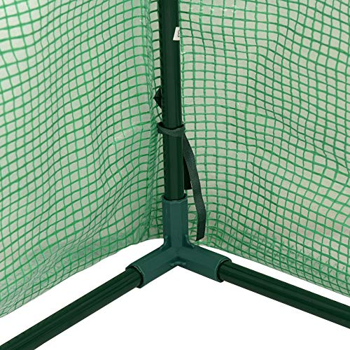 """Sundale Outdoor Portable Gardening Steeple Mini Green House with PE Cover and Zipper Doors, Waterproof Hot Green House, UV Protection, Insect Prevention, 106.3""""(L) x 35.4""""(W) x 35.4""""(H) by Sundale Outdoor (Image #5)"""